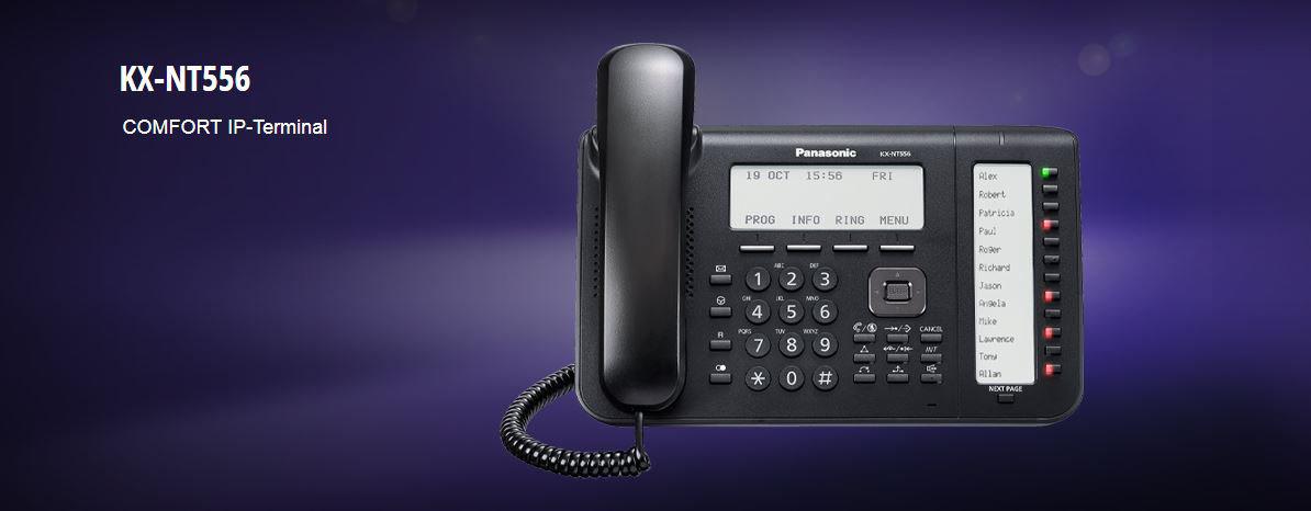 Selbstbeschriftenes Panasonic Systemtelefon NT556